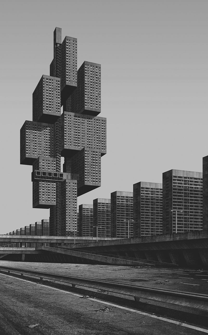 clemens gritl digitally explores urban utopias of the 20th century