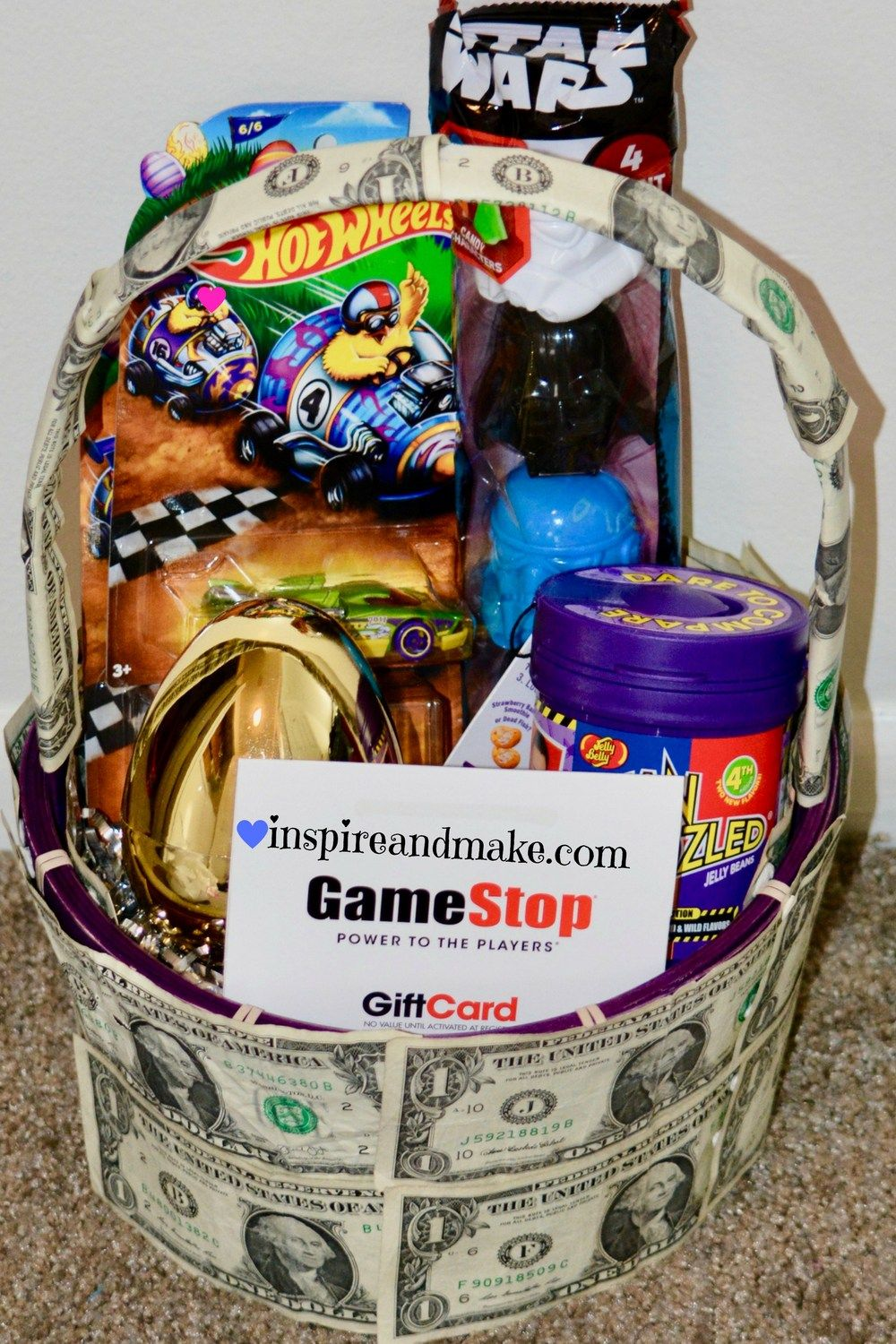 7 ways to create a unique money gift basket basket ideas tween child teen or tween money gift basket idea for an easter idea that will be negle Gallery
