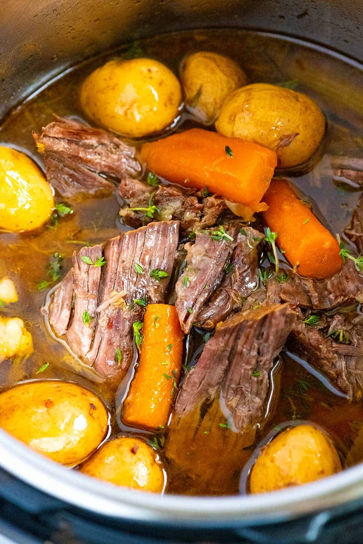 Easy Instant Pot Pot Roast Tender And Juicy Recipe Pot Roast Recipes Instant Pot Recipes Instant Pot Dinner Recipes
