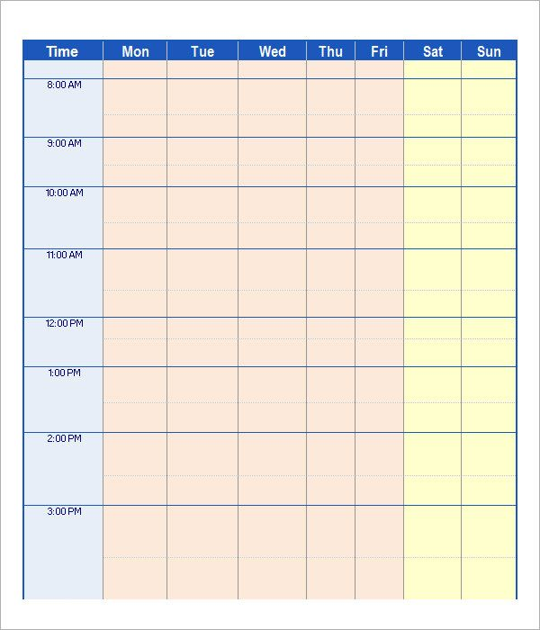 free employee schedule maker app schedule template pinterest