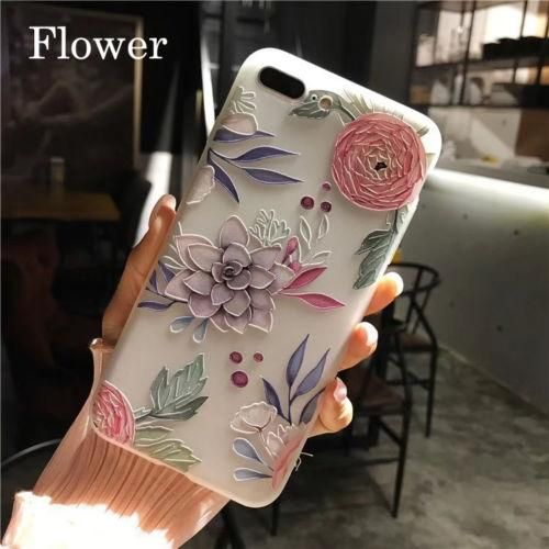 Unicorn & Flowers Clear Phone Cover for