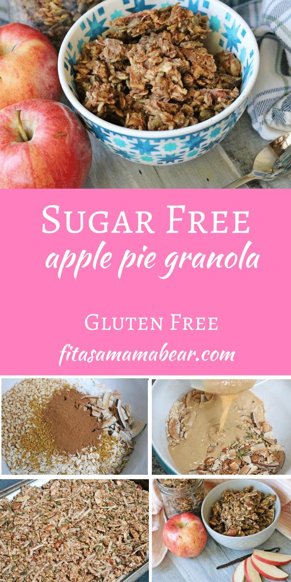 Healthy, Homemade & Sugar Free Apple Pie Granola | Recipe ...