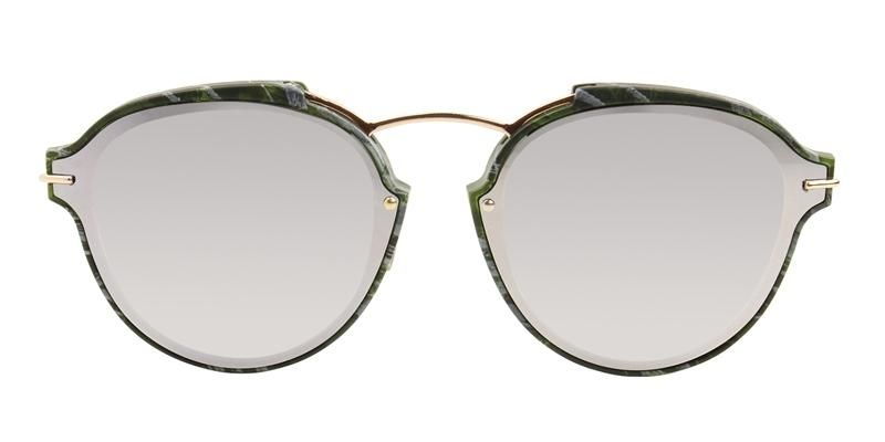 003dea0f1b Dior Eclat Green   Gray Lens Mirror Sunglasses – shadesdaddy