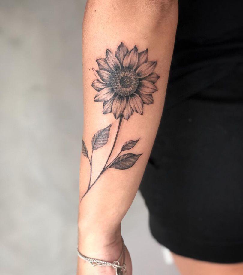 30x Prachtige Zonnebloem Tattoos En De Betekenis Forarm