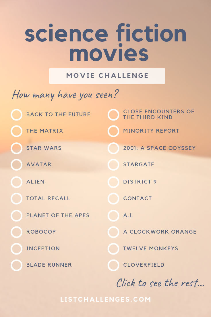 Photo of 50 science fiction films you have to see ~ Movie Challenge. How many did you see Th …