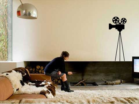 Movie Camera - Vinyl Wall Decal for Home Theater