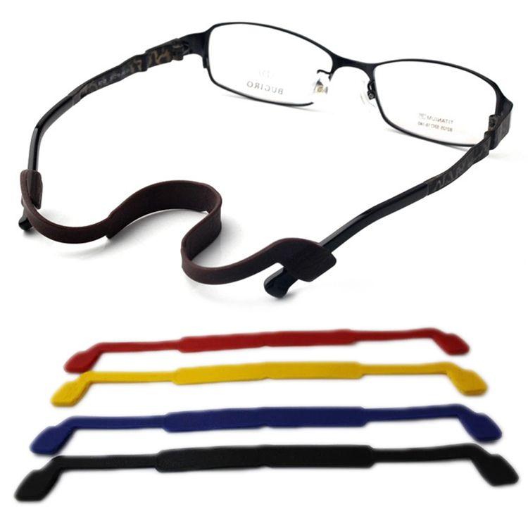 안경 액세서리 슈퍼 부드러운 탄성 실리카 겔 안경 끈 체인 미끄럼 방지 안경 로프 드롭 배송