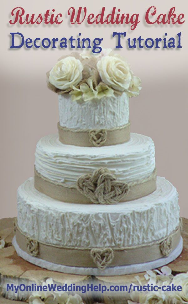 burlap wedding cake decorations rustic wedding cake tutorial no decorating 12256