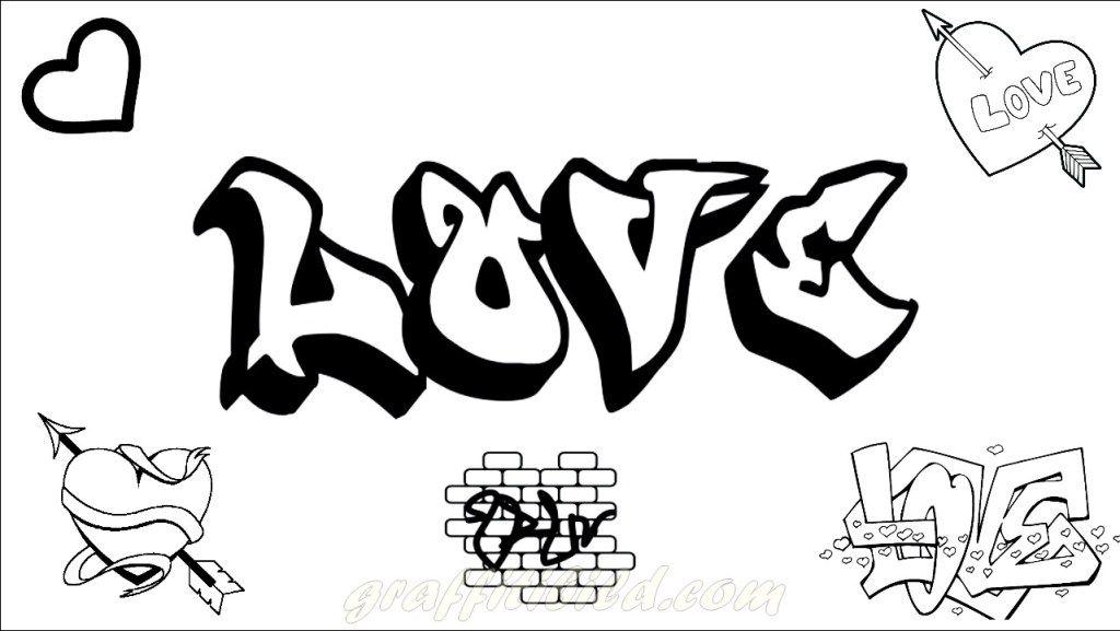 graffiti malvorlagen love