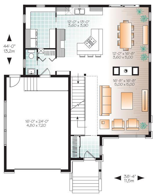Zen   Contemporain W3880 Maison Laprise - Maisons pré-usinées