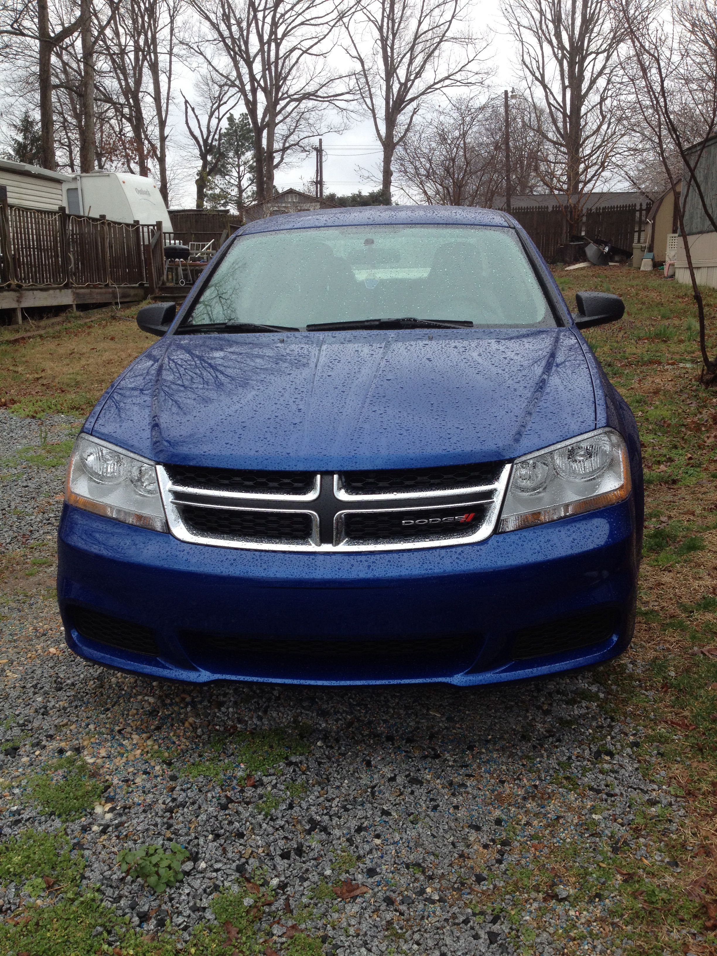 This is my new car. It's a Dodge Avenger. I have decide to give it a name but I don't know what name I should give it. I was thinking maybe Thor. (Even though it's blue).