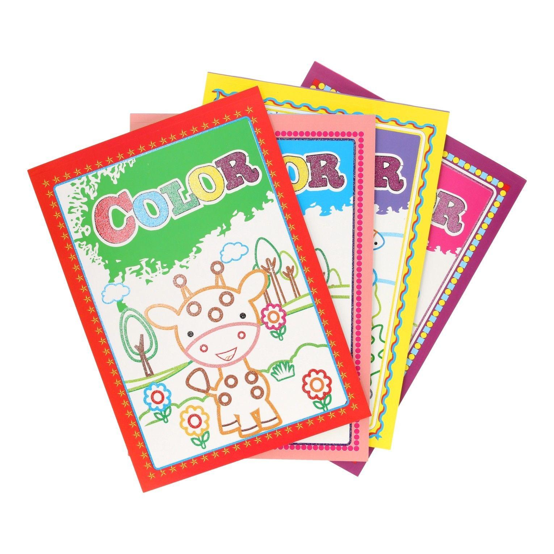Glitter Color Kleurboek Kleurboek Kleuren Zwart Wit