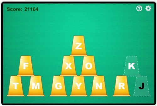 Cup Stacking Free Typing Game For Kids | Typing games, Games ...