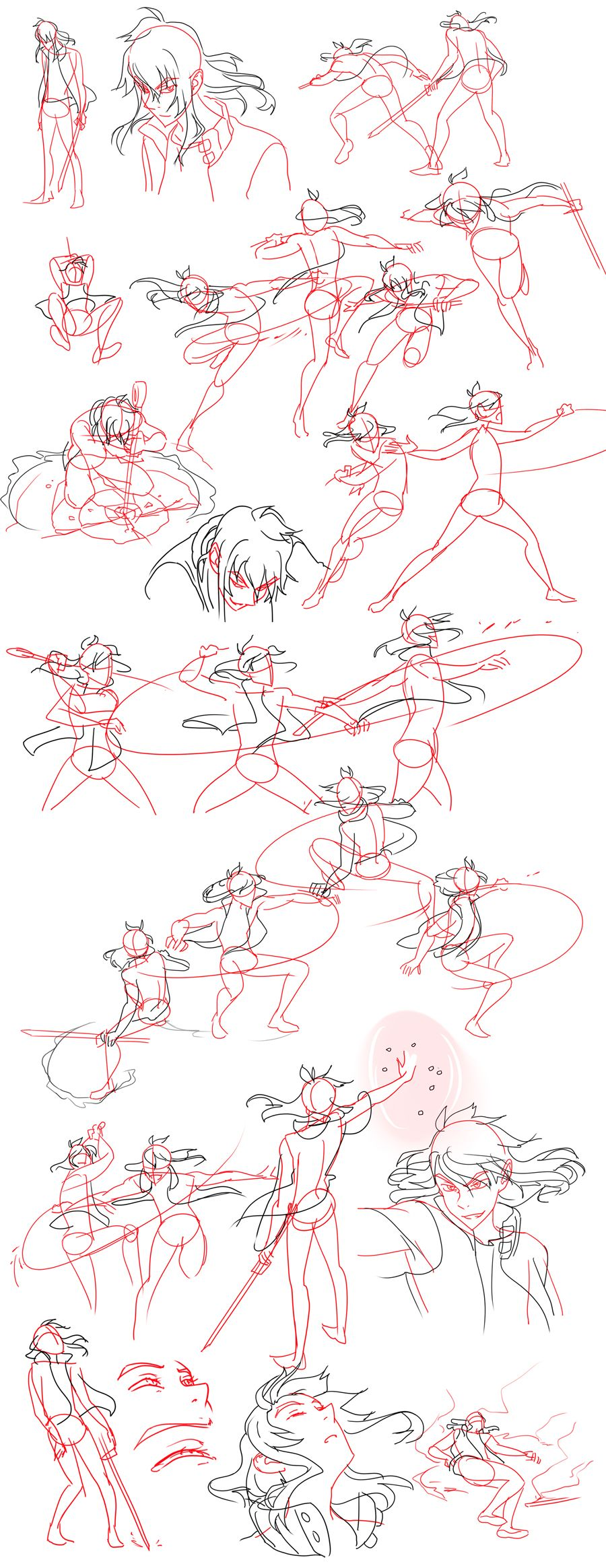 Fight Sketches by on