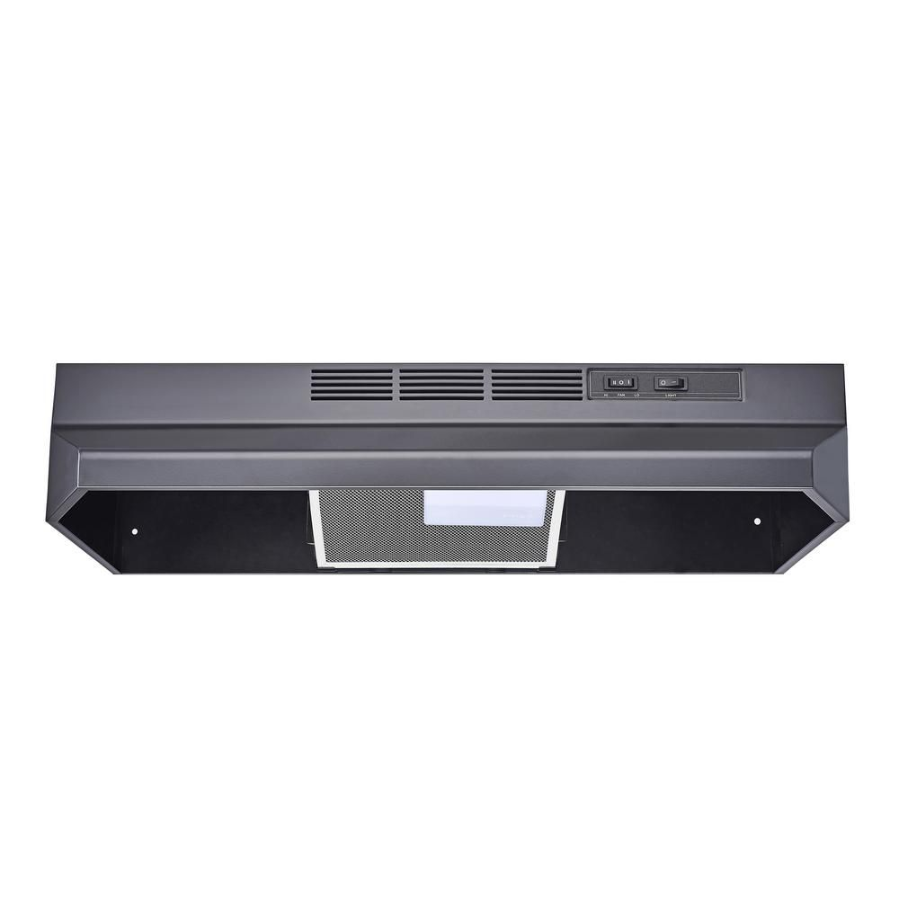 Winflo 30 In Ductless Non Ducted Under Cabinet Range Hood In Black Color With Mesh Charcoal Filter Under Cabinet Range Hoods Charcoal Filter Ductless