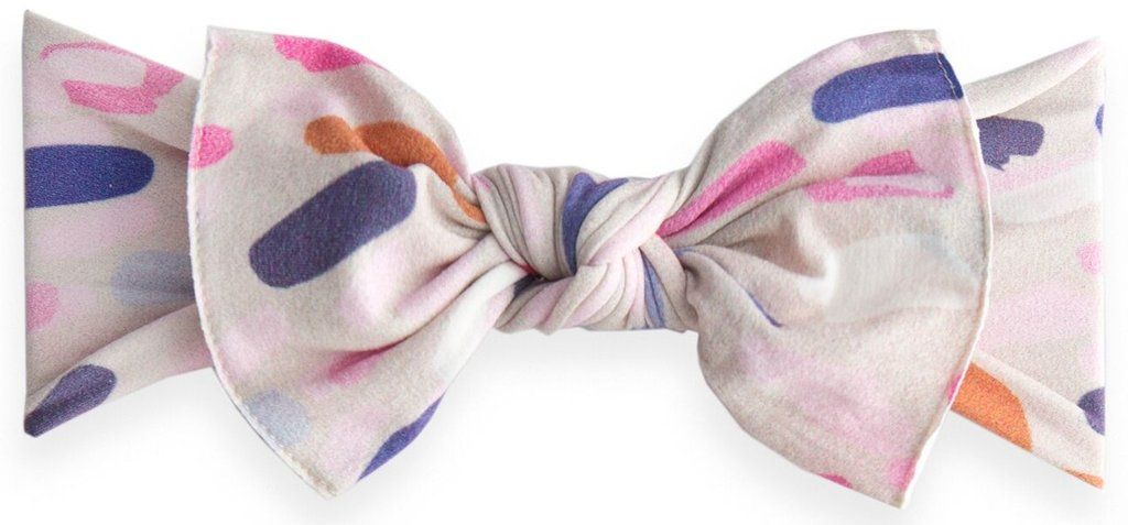 53422befb5122 Baby Bling Paintbrush Printed Knot Headband – Basically Bows   Bowties