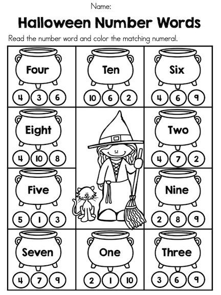 Number words Halloween theme | Math | Pinterest | Math ...