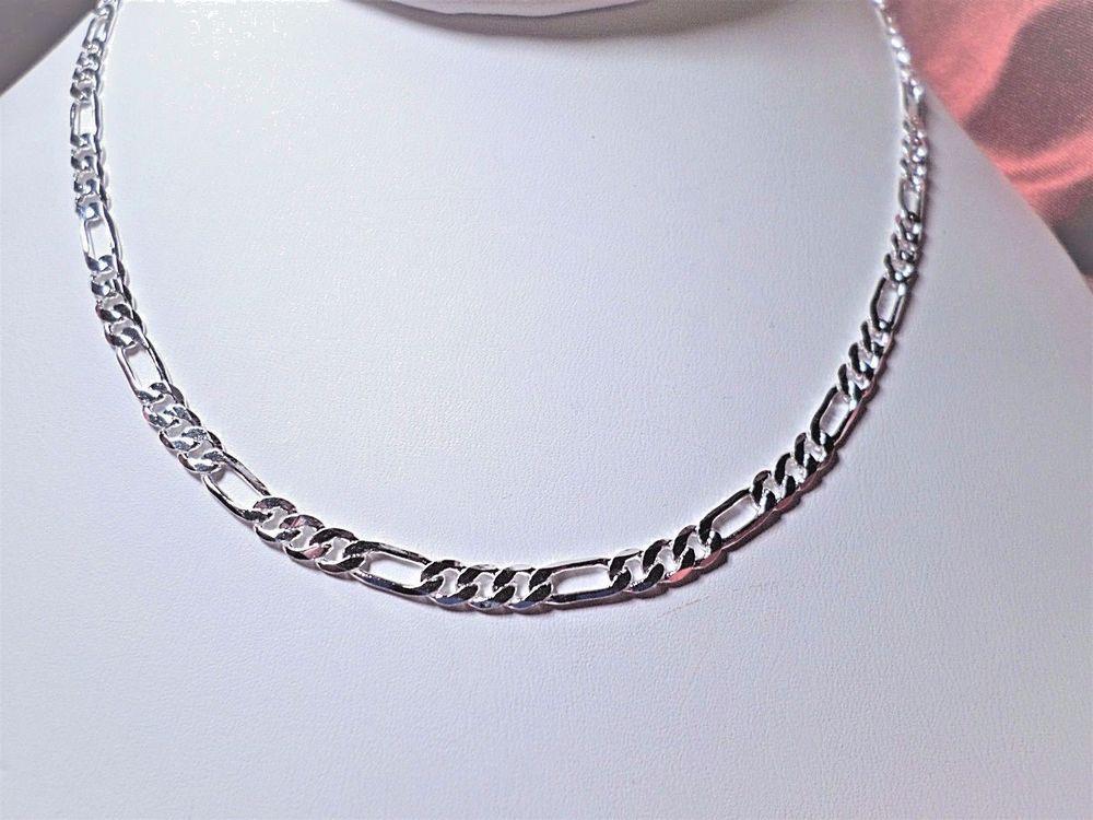 30 inch Sterling Silver Heavy Figaro Chain.