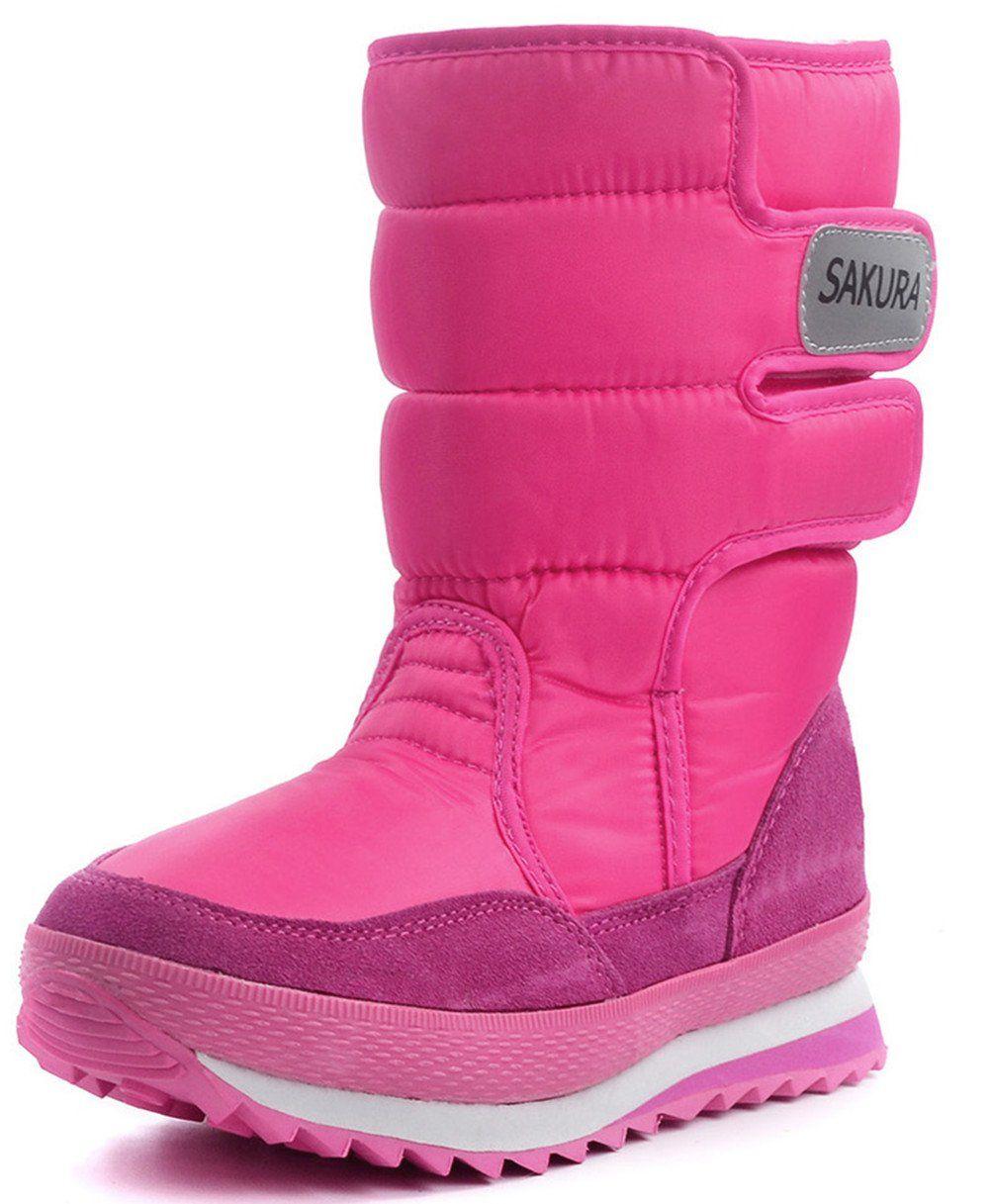 DADAWEN Damenschuhe Waterproof Frosty Snow Boot Rose ROT US US US Größe 9 ... e17317