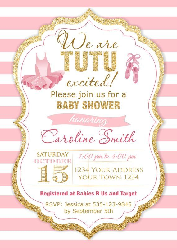 S Baby Shower Invitations Tutu