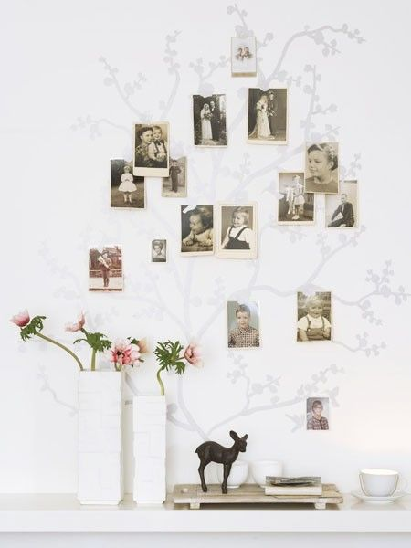 kreative wanddeko ideen selber machen stammbaum pinterest stammbaum ideen und wanddeko. Black Bedroom Furniture Sets. Home Design Ideas