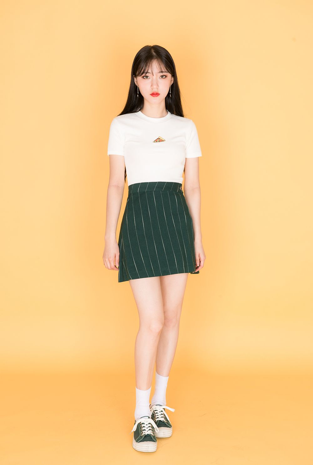 Striped Wrap Skirt | MIX X MIX | Shop Korean fashion casual style clothing,  ...