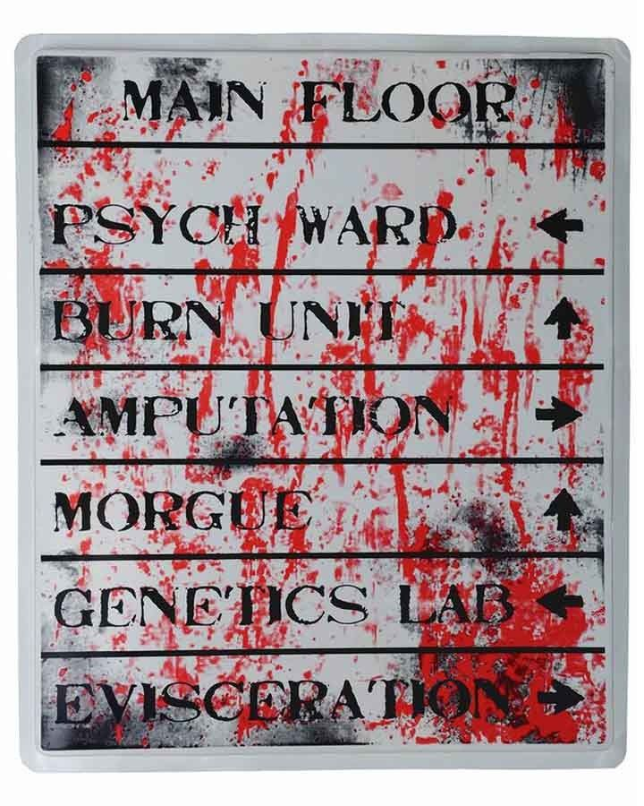 hospital directory halloween sign make one with all the different rooms in the asylum