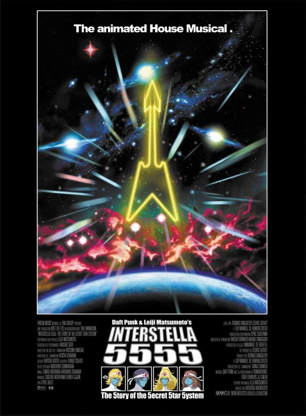 Interstella 5555 La Película De Daft Punk En Streaming En 2020 Interstella 5555 Daft Punk Peliculas