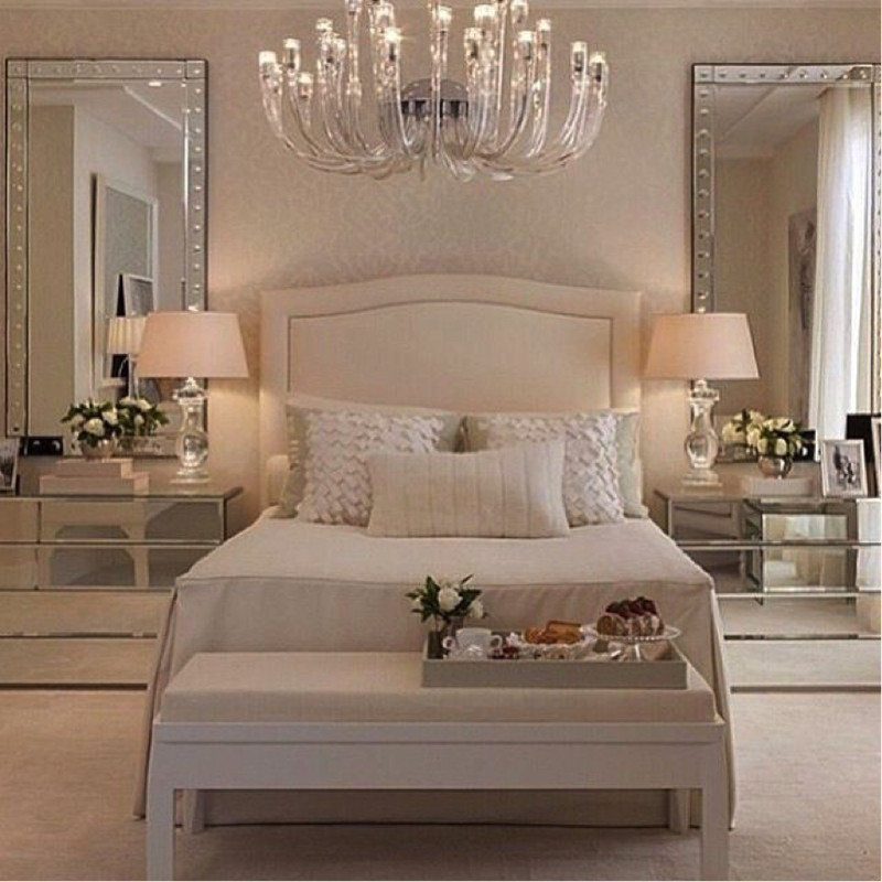 Bedroom mirror | This bedroom decor is complete with two ... on Mirrors Next To Bed  id=19294