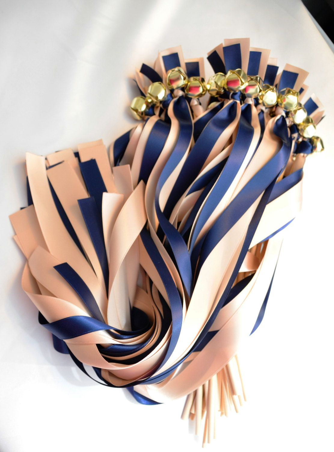 NEW STYLE 50 Send off Ribbon Bell Wands Mixed Size