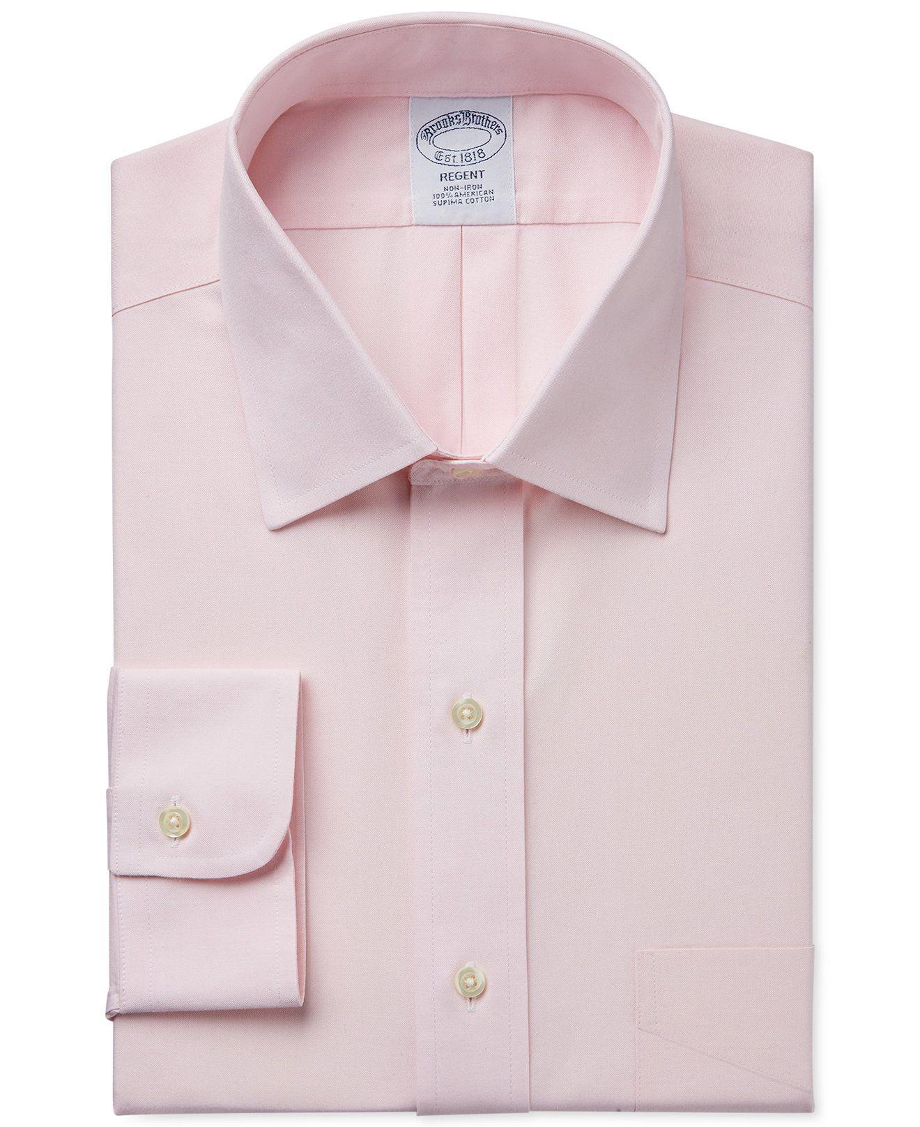 8e0ec1bc Brooks Brothers Regent Classic-Fit Non-Iron Pinpoint Solid Dress Shirt -  Dress Shirts - Men - Macy's