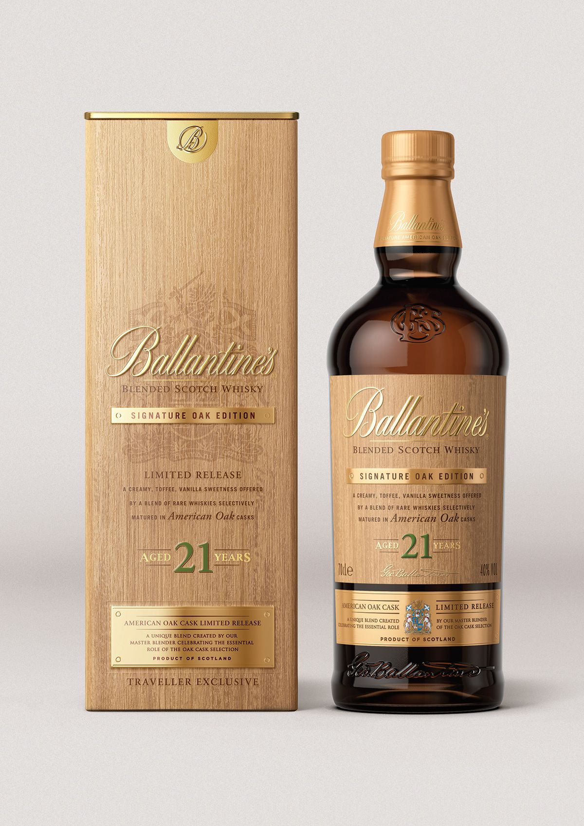 Ballantine S Whisky 21 Year Old Signature Oak Edition On Behance