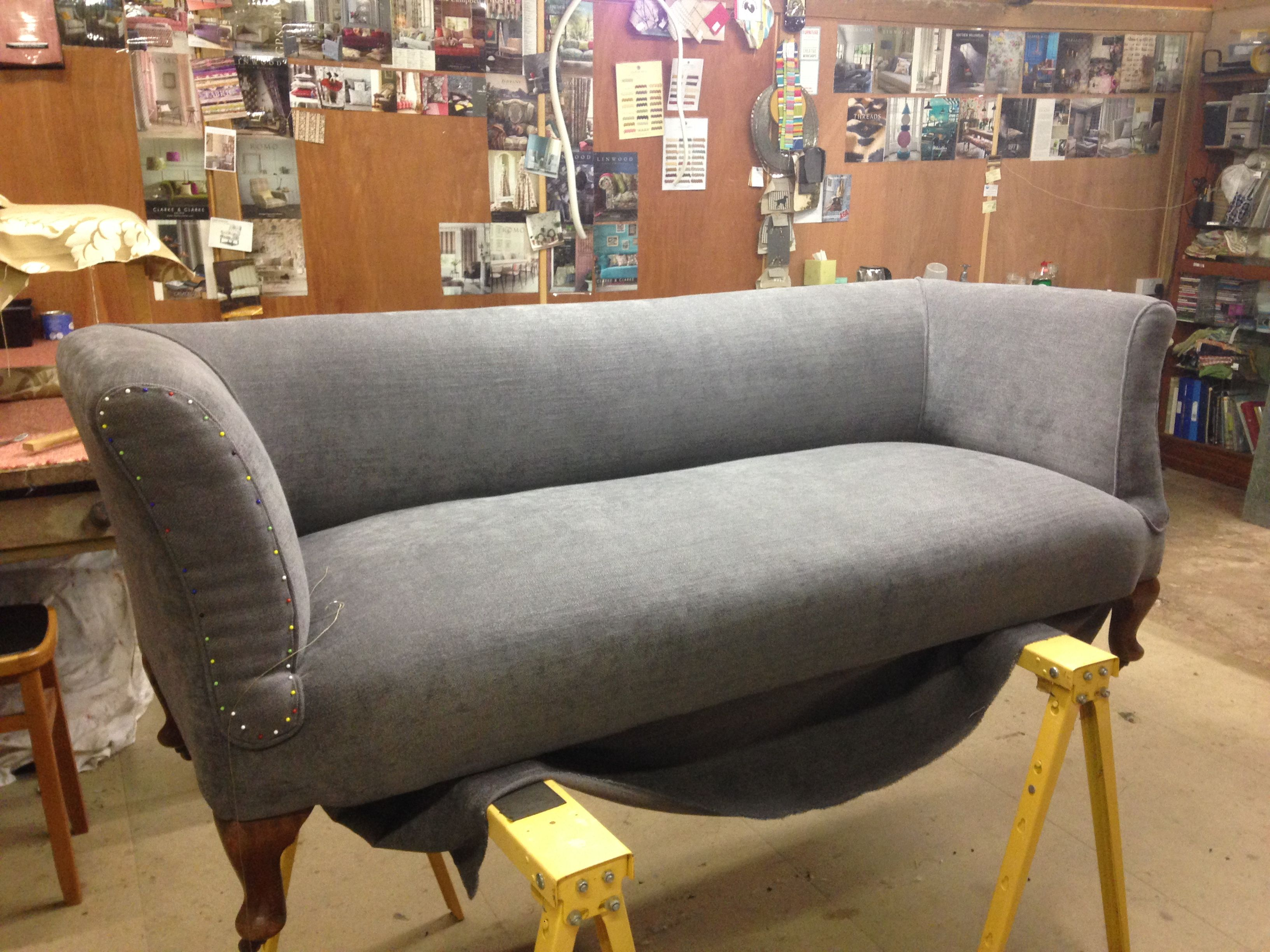 Weekend Course Upholstery, Three seater sofa, Chairs for