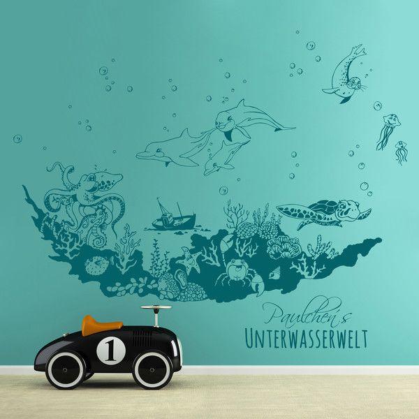 Wandtattoo Unterwasserwelt Meerestiere Meer M1771 Etsy Meerestiere Unterwasser Unterwasserwelt