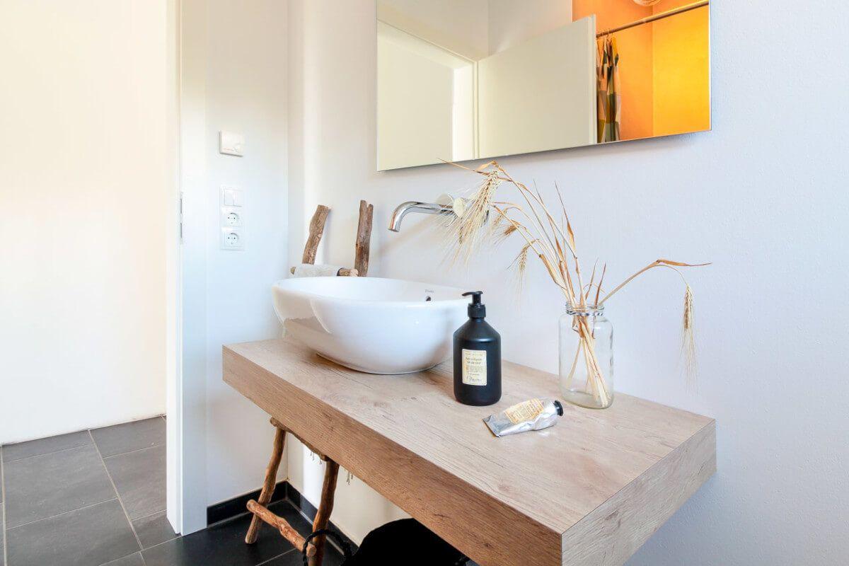 Badezimmer Ideen Minimalistisch Modern Waschtisch Holz Inneneinrichtung Eco Vario Haus Bonningstedt Hausbaudirekt De Traumhaus Haus Haus Ideen Aussen