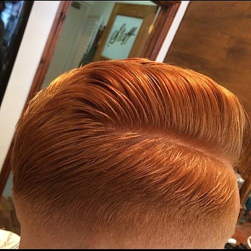 ginger boy with slick haircut