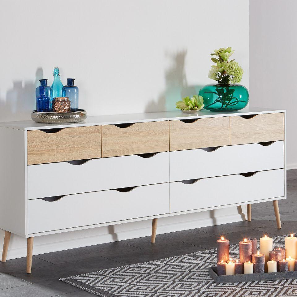 Kommode Oslo (4+4) in 2019 Kommode, Wohn möbel und Möbel