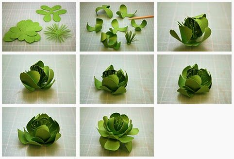 3D Paper Flowers Continued...