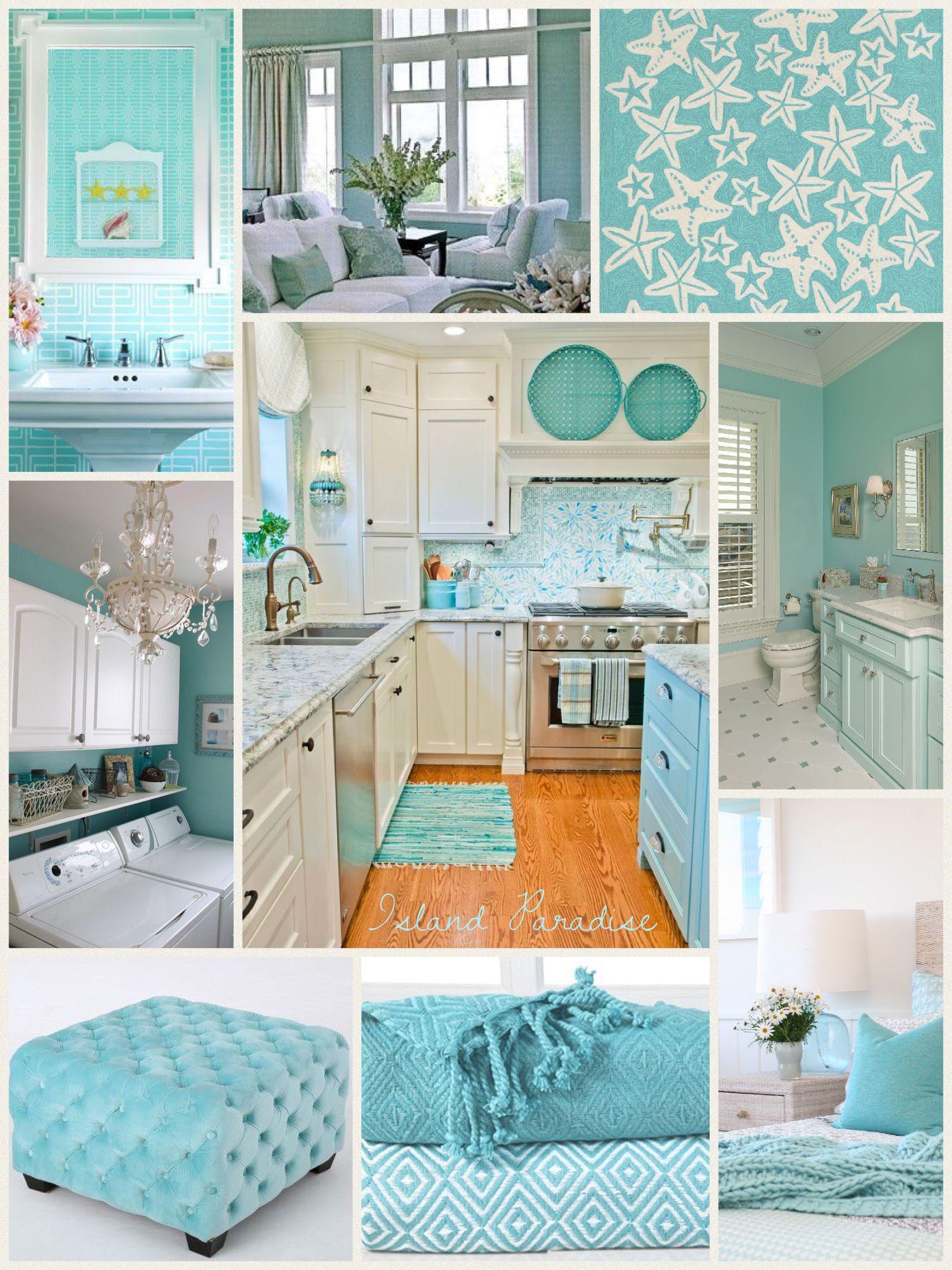 Pantone Island Paradise Farmhouse Style Kitchen Beach House Interior Turquoise Kitchen Decor