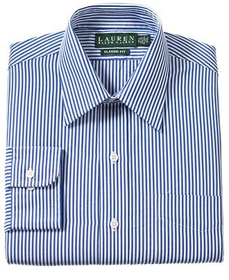 Lauren Ralph Lauren Dress Shirt, Blue Bengal Stripe - Dress Shirts ...