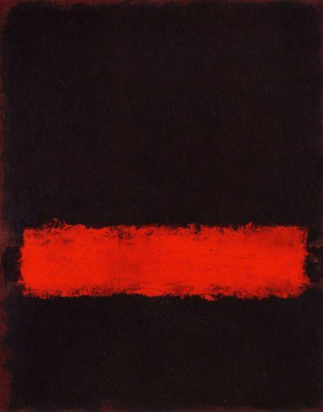 Mark Rothko, Black, Red and Black, 1968 on ArtStack #mark-rothko #art