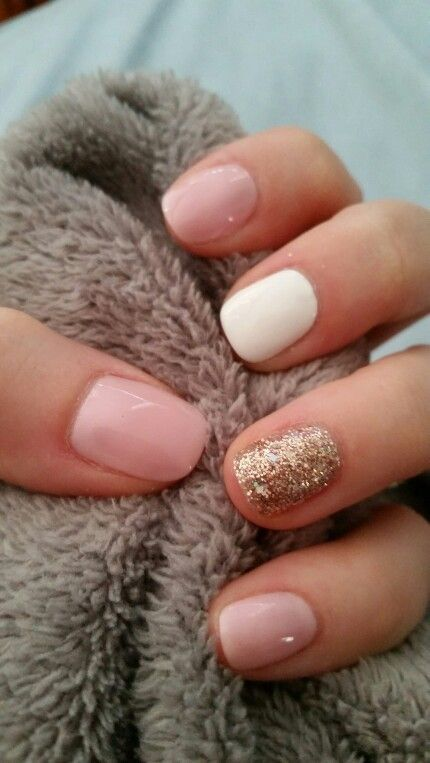 Double Trouble French White Pop The Cork Gold Nails Trendy Nails Nail Color Combinations