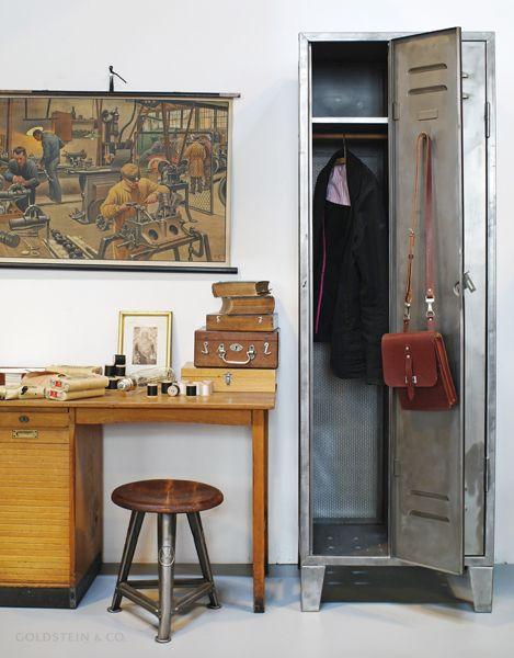 Locker From A Former Foundry Rowac Stool Vintage
