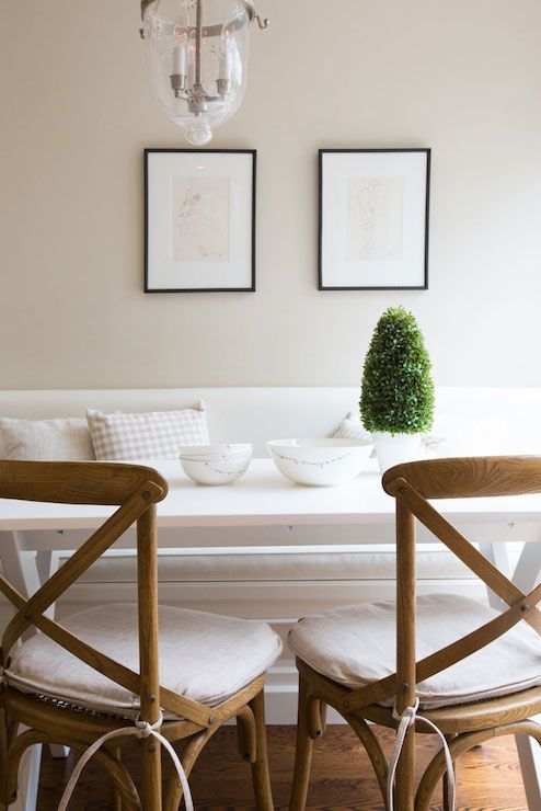 Excellent Beautiful Breakfast Nook Filled With Art Over White Ibusinesslaw Wood Chair Design Ideas Ibusinesslaworg