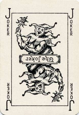Vintage Playing Card With A Joker Whimsy Quirk Carte A Jouer
