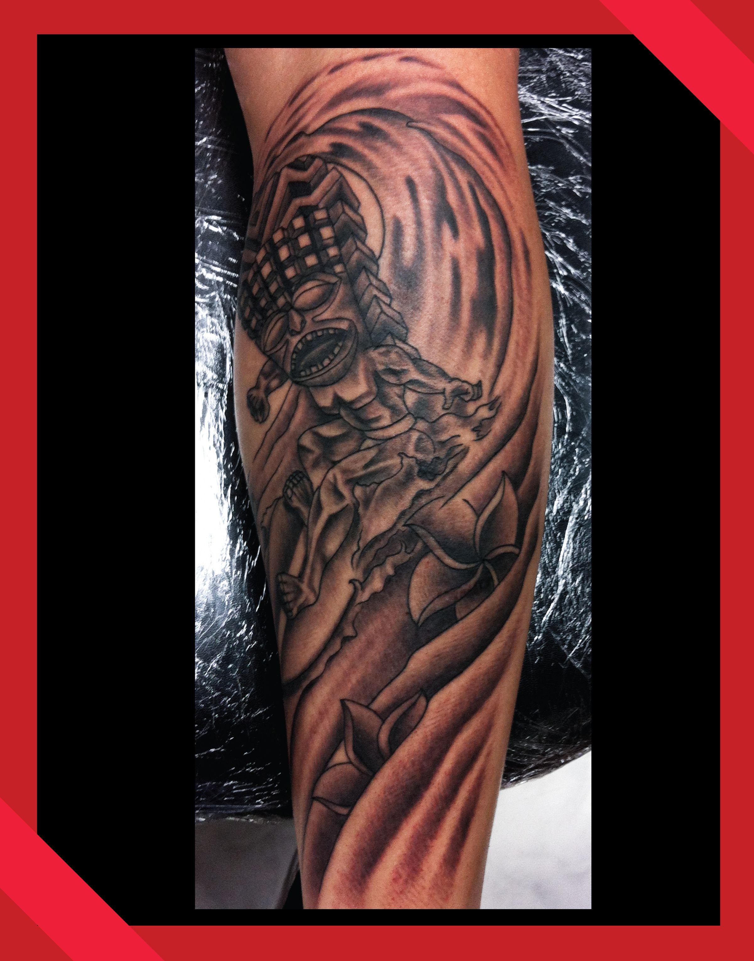 kanaloa tiki tattoo by anthony hunter tattoos by anthony. Black Bedroom Furniture Sets. Home Design Ideas