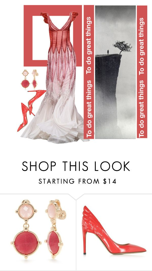"""""""Red Stripes"""" by dedication ❤ liked on Polyvore featuring Napier, Valentino, red and dress"""