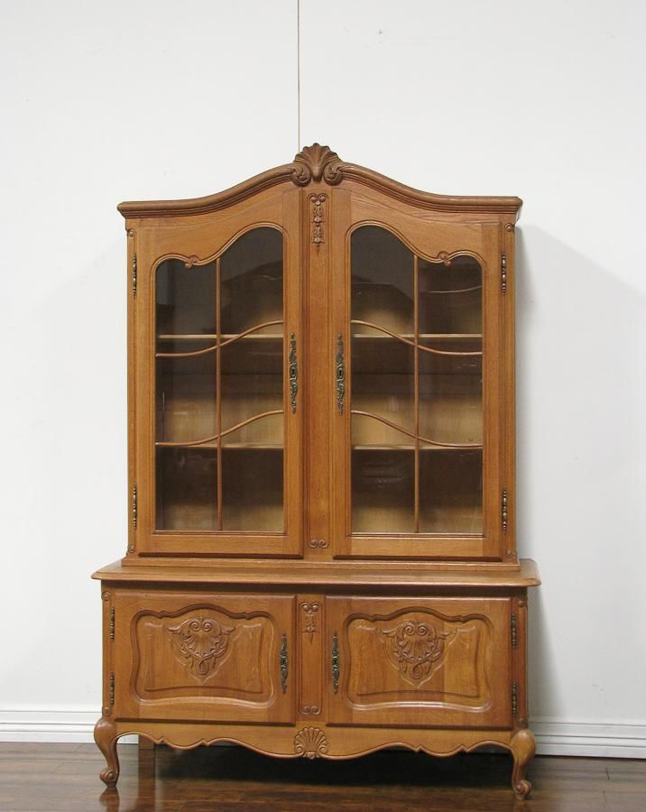 Dk0152 French Provincial Oak Display Cabinet Frenchcountryprovincial