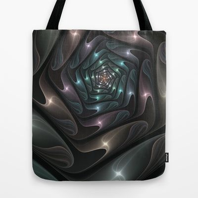 Metallic Spiral Fractal Art Tote Bag by Gabiw Art | Society6 - printed Tote Bag with the Design on both Sides