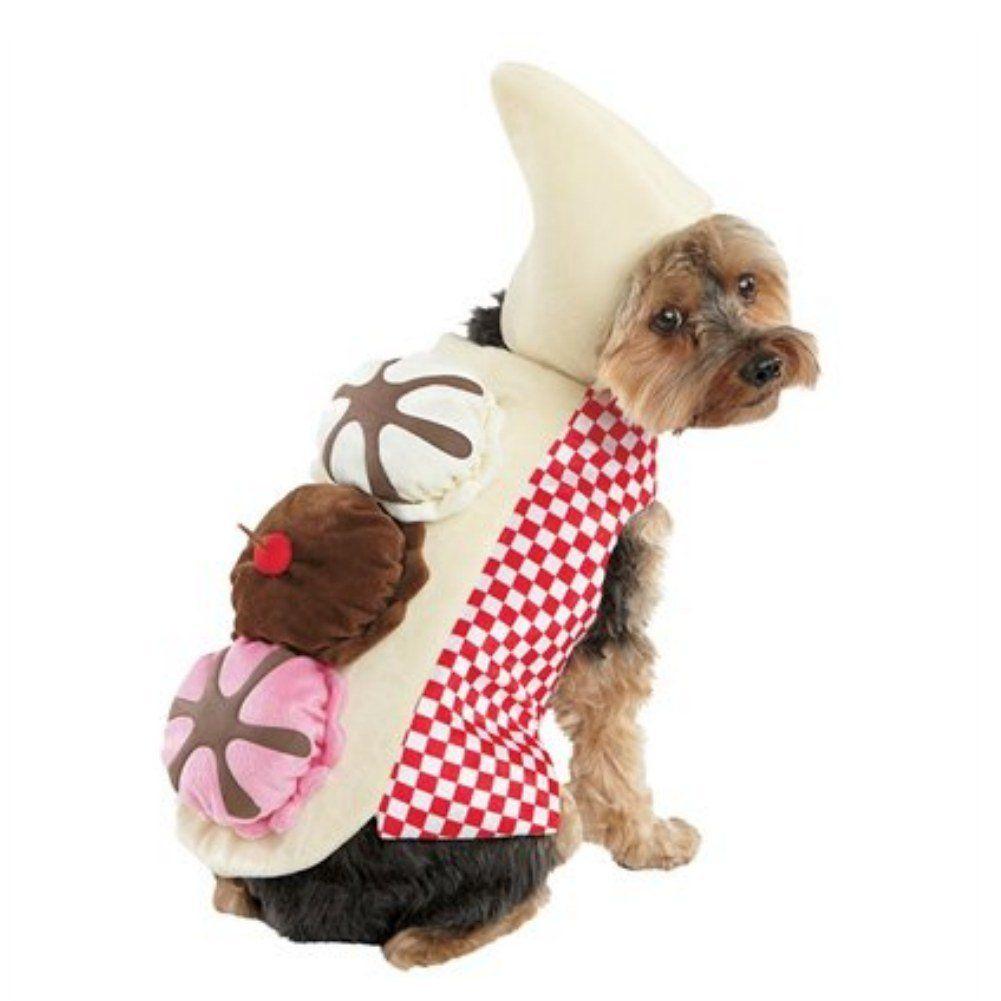 Amazon Com Dog Banana Split Costume Pet Ice Cream Sundae Outfit